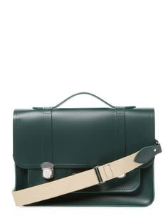 Expedition Leather Satchel by The Cambridge Satchel Company at Gilt Spring Fashion, Autumn Fashion, Cambridge Satchel, Shoulder Strap, Shoulder Bags, Leather Satchel, Logo Design, Handbags, Green
