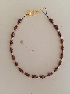 Purple and Gold by BrittanysBeadsStore on Etsy