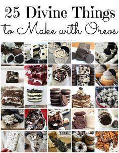25 Divine Things to Make with Oreos - These look so yummy!!