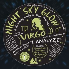 $20.00 Night Sky Glow Mineral Salt Scrub - Virgo-  8 oz. August 23 - September 22  Scents:  grapefruit, lavender, ylang-ylang, and bergamot | Mountain Body Products