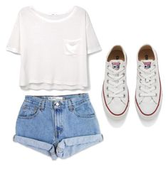 """How to wear Converse"" by karlamichell ❤ liked on Polyvore featuring beauty, Levi's, MANGO and Converse"