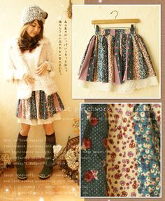 forest patchwork mori skirt
