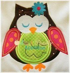 Whimsical Owl Machine Embroidery Applique Design Plus Free Design