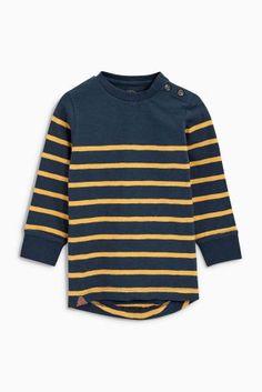 Buy Navy/Ochre Breton Stripe Crew (3-16yrs) from the Next UK online shop
