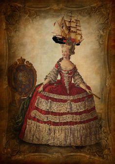 Caricature des chapeaux extravagants