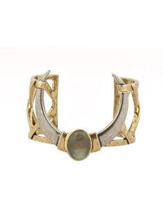 house of harlow Open Weave Cuff with Horns, house of harlow cuff, house of harlow bracelet, house of harlow jewelry