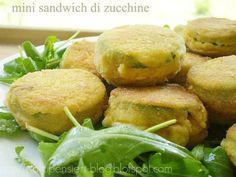 Mini sandwich di zucchine