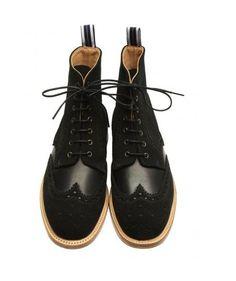 07f583cec9f0 Brogue Boot Black Leather. Black Brogue Boots