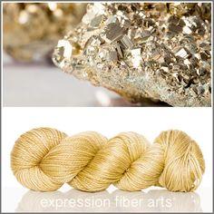 Expression Fiber Arts, Inc. - FOOL'S GOLD 'LUSTER' SUPERWASH MERINO TENCEL WORSTED YARN, $24.00 (http://www.expressionfiberarts.com/products/fools-gold-luster-superwash-merino-tencel-worsted.html)