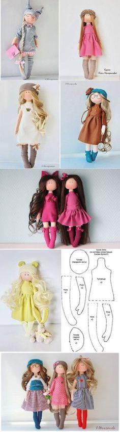 Dolls-Un mismo patron varias muñecas♥♥                                                                                                                                                                                 Más