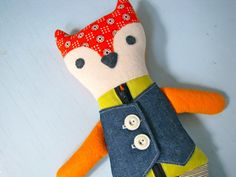 Learn to Dress Mr Fox by NiftyKidstuff on Etsy, $52.00
