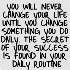 It's important to remember if you want CHANGE in your life then you have to make the CHANGE! Change is not a bad thing!❤️