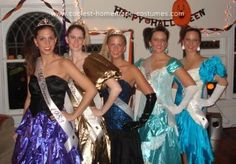 Homemade 80s Prom Queen Costume: We went as a group of high school prom queens from various years throughout the 80s.    Dresses were all bought at either thrift stores or on Ebay.  And