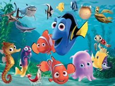 Finding Nemo is a 2003 American computer-animated film produced by Pixar Animation Studios and released by Walt Disney Pictures. Dory Baby, Nemo Y Dory, Disney Pixar, Disney Characters, Disney Mural, Disney Wiki, Disney Films, Disney Cars, Fictional Characters
