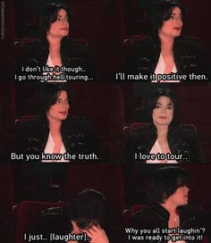 Michael tellin the truth