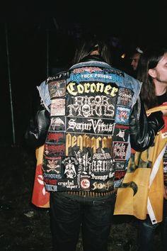 Combat Jacket, Battle Jacket, Vest Jacket, Biker Leather, Leather Jacket, Diy Clothing, Recycled Clothing, Defender Of The Faith, Metalhead
