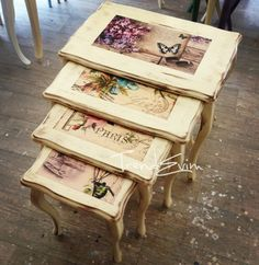 Wood Painting Coffee Table Models - How To Paint Wooden Coffee Table? - Wood painting coffee table models You are in the right place about diy furniture tables how to paint - Diy Furniture Videos, Diy Furniture Table, Diy Furniture Plans, Diy Table, Upcycled Furniture, Painted Furniture, Craft Tables, Wooden Painting, Painted Coffee Tables