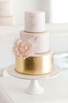 foglia oro e rosa confetto