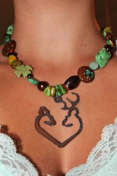 Rustc Western Bling Chunky Necklace by txcowgirlboutique on Etsy, $25.00