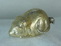 Antique Rare Early German Blown Glass Mouse c1910