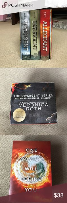 The Divergent Series Divergent+Insurgent+Allegiant | Never touched | Books are in Great condition | Comes with an extra book about the author | Hardcovers with jackets Katherine Tegen Books Other