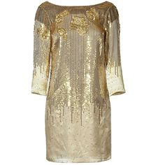 HALSTON HERITAGE Golden Sequined Low Back Dress (1.420 RON) ❤ liked on Polyvore featuring dresses, mini dress, long sleeve sequin cocktail dress, sexy cocktail dresses, form fitted dresses and sexy dresses