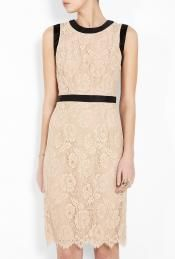 Bow Shift Sleeveless Lace Dress by Milly