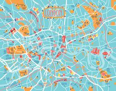 Map of London by Diana Stanciulescu for Conbook Verlag