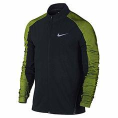 promo code 8c2e7 0591d Nike Mens Twill Running Jacket Black Volt NIKE