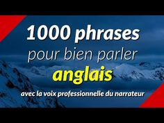 1000 phrases pour bien parler anglais - YouTube English Story, English Tips, English Lessons, Learn English, Grammar Book Pdf, English Vocabulary Words, French Language, Feel Good, Affirmations