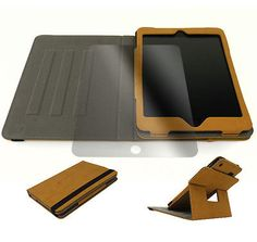 NEW APPLE IPAD MINI RETINA CASE COVERSCREEN PROTECTOR STAND POUCH SUEDE BEIGE