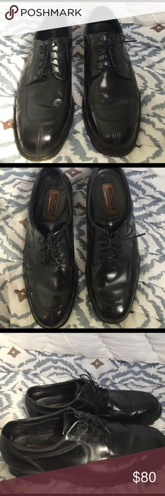 Men's black dress shoes Work once, perfect condition men's dress shoes. Florsheim Shoes Oxfords & Derbys