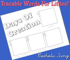 Creation notebooking page for littles