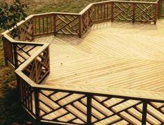 backyard deck rail