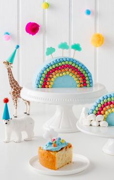 Rainbow cake for kids birthday - Kindergeburtstagstorte - Regenbogentorte - Kuchen Birthday Cake Girls, Boy Birthday Parties, Hair Rainbow, Kids Rainbow, Crown Cake, Zucchini Cake, Salty Cake, Lemon Recipes, Sweet Cakes