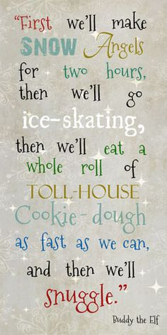 "Summer Snow: Glittered Snow Angels 10x16""  Expression (SS5106) - $21.95 - Print - Buddy the Elf Quote"