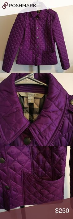 Burberry Brit Purple Quilted Jacket Good used condition  No spots or holes  Size medium  **Actual color of purple maybe different due to lighting Burberry Jackets & Coats