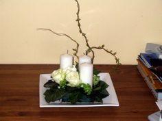 Composition florale centre table glise duclair for Decoration florale table