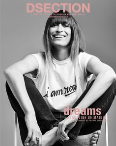 """125 Likes, 4 Comments - DSECTION (@dsectionmagazine) on Instagram: """"COVER 8 of 10 // @carolinedemaigret shot by @philippevogelenzang for our special issue """"DREAMS"""" //…"""""""