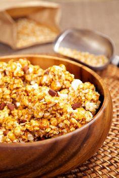 Coconut Caramel Popcorn Recipe