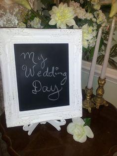 Shabby Chic Wedding Chalkboard by WhimsicalLoveBirds on Etsy, $24.99