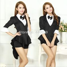 black suit coat / tuxedo costume with shorts, tails, and 3/4 length sleeves | $13.20 each or $12.54 off for 5+