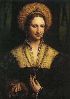 The black work from her camicia show under her sheer partlet  Bernardino Luini - Portrait of a Lady— with Surendra Sompura and Sulekha Basu.jpg