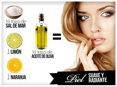 Exfoliante cítrico casero para piel suave: Sal de mar + limón + aceite de oliva + naranja