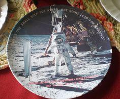 Vintage 1969 Commemorative Souvenir Plate First by NeldaMaesCloset, $9.50