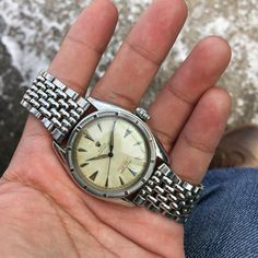 Another red text Oyster Perpetual - 6103 this time #vintagewatches #vintagerolex #rolexvintage #watcheswithpatina Vintage Rolex, Vintage Watches, Oyster Perpetual, Oysters, Bracelet Watch, Bracelets, Red, Accessories, Antique Watches