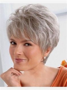 Women Lady Wig Short Straight Silver Grey Synthetic Hair Wigs, Grey Wigs For Sale - Short Hair Styles Short Hairstyles Over 50, Short Pixie Haircuts, Older Women Hairstyles, Wig Hairstyles, Fashion Hairstyles, Hairstyles 2016, Bob Haircuts, Roman Hairstyles, Hairstyle Hacks