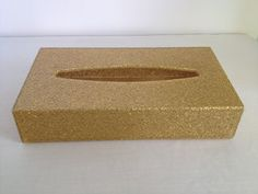 Vintage Gold Glittery Kleenex Tissue Box Holder Cover on Etsy, $15.00