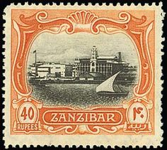 Zanzibar Issue Issued Stamps black and orange-brown, centred to top, fine mint. Banknote, Orange Brown, Junk Journal, 50 Shades, Tanzania, Great Britain, Postage Stamps, Vintage World Maps, Coins