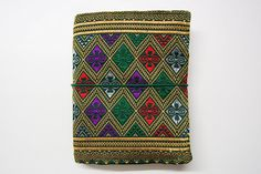 Lao Handwoven Textile Traveler's Notebook by Catisfy on Etsy